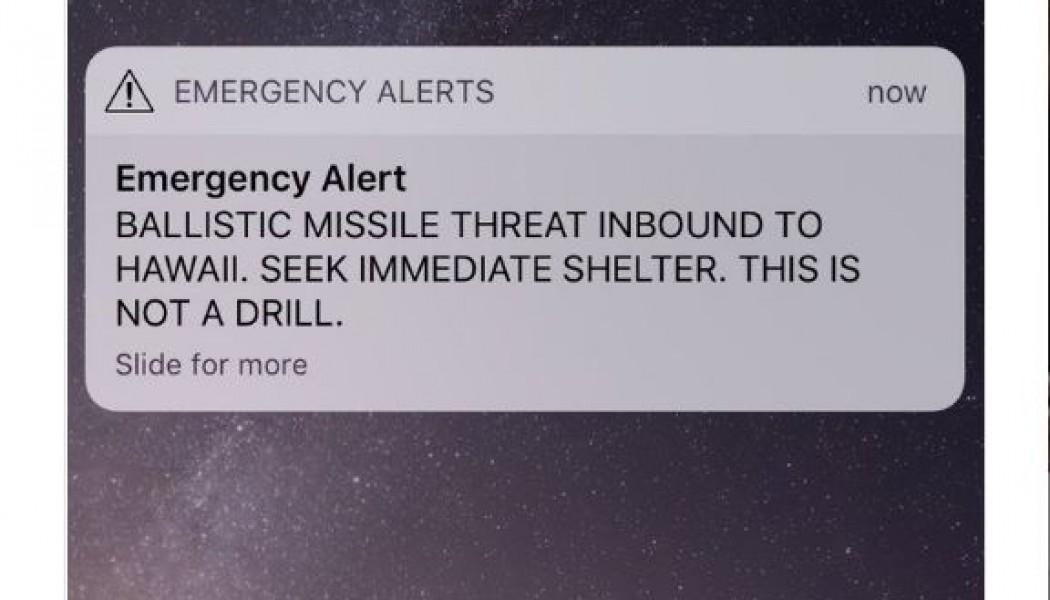 HAWAII GOES BALLISTIC: False Missile Alert Causes Choke Panic
